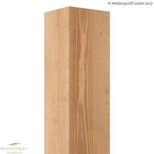 Holzpfosten Kiefer quadratisch, gebeizt