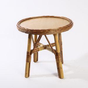 Weidenmöbel BAMBINO, Kinder-Tisch mit Holzplatte, Ø 40 x 42