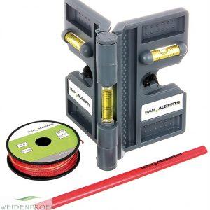 Montagehilfe Winkelwasserwaage-Set für Zaunpfosten
