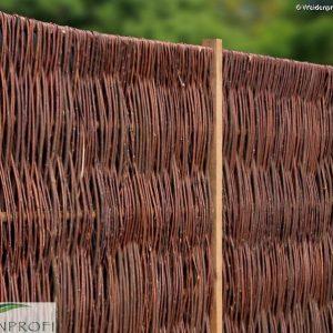 Weidenzaun LATO Solid, senkrecht geflochten, 120 x 100