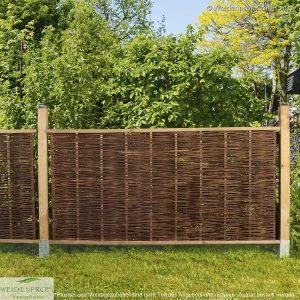 Gartenzaun Weide LATO Solid, mit seitlichem Rahmen